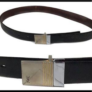 Vintage Yves Saint Laurent Mens leather belt